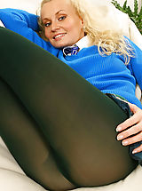 Blonde Karen cant wait to get out of her college uniform