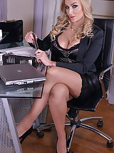 Busty Secretary, Kayla Green and Marie Clarence