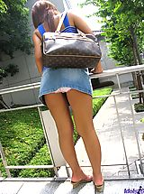 denim skirts, Asian slut slowly strips off her lingerie to get ready for time with her friends