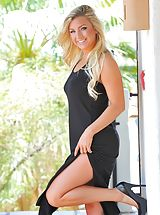 High Heel Boot, Black dress with Embry