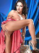 Leather Heels, Lanny Barby shows off her pink in pink!