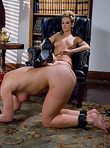 Servant Girl caned and fucked by lesbian.