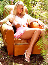 High Heel Mules, Heather Starlet looks absolutely gorgeous showing off her beauty in nature.