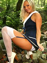 Sailor Tammy strips out of her uniform to show off her perfect body.