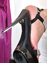 High Heels, Wet Pussy Closeup of Viktoria Diamond