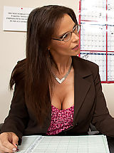 Naughty Secretary, Horny teacher takes her students cock in her ass