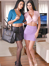 Hot Secretary, Ania Kinski and Jasmine Jae