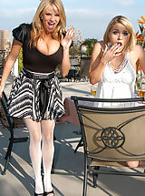 Kelly Madison and Krissy Lynn get fucked hard and fast by a Easter Bunny.