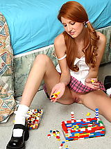 white upskirts, rita lovely 01 redhead pigtails