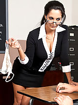 Ava Addams shows one of her students what it takes to get an A in her class.