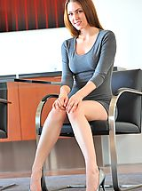 Busty Secretary, Meghan gray dress nudes