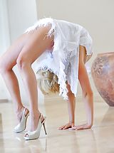 High Heel Mules, Jessica the beautiful contortionist