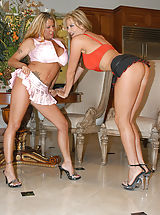 Stiletto Shoes, Summer and Kelly Madison suck each others big tits.