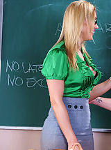 Sexy teacher Tanya Tate lets her student fuck her from behind