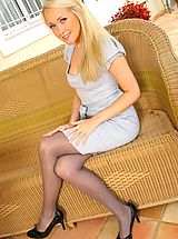 Only Tease Pics: Lucy Anne looks amazing as she teases her way out of her sexy secretary outfit