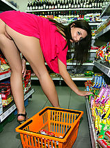 upskirts, Beautiful Babe in Shop feat. Anna