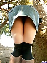 short skirts, Tsukasa is a horny model who shows off her fine tits and ass as she is posing