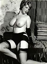 Lingerie Pics: Stocking cuties, 1950's style!