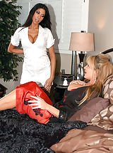 Kelly Madison isn't feeling well so she does the one thing that always feels good, fucks her super hot nurse and husband.