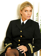 Classy Legs, Naval uniform with black stockings