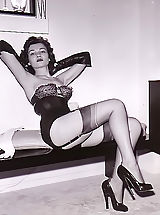 Spike Heels, Rare Vintage Photo Materials Displaying Unshaven Women of 1950-1960 Getting Their Girlish Sexual Pleasures