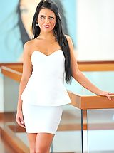 Long Legs, Angelic Sweetheart Arianna is gorgeous in white
