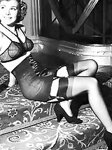 corset and stockings, Old Fashioned Women