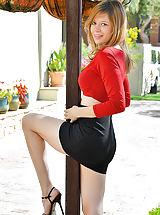 Secretary, Upskirt In Red