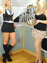 Secretary Sex, Secretaries in High Heels Emma-Kate Dawson and Miss Holli 2 in October 2011