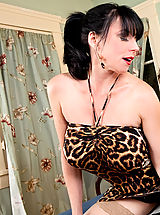 Brunette cougar has her way with a young cock.