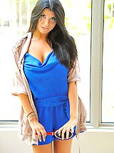 Romi is a goddess in blue
