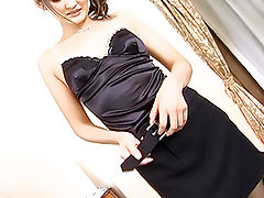Risa Murakami Asian doll is into a large gangbang party while on her date