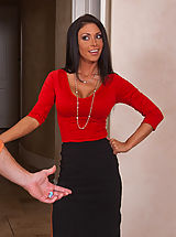 Busty Secretary, Sexy Jessica Jaymes office assistant is married, but that doesn't stop her from fucking and sucking his big dick.