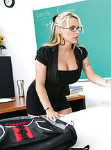 Holly Halston,My Very First Sex Instructor,Holly Halston, Joey Brass, Bad Girl, Professor, Classroom, Desk, American, Ball licking, Huge Dick, Huge Fake Funbags, Big Boobies, Blonde, Blow Job, Bubble Butt, Caucasian, Cum in Mouth, Deepthroating, Facial, F