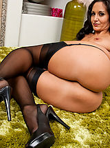 Yellow High Heels, Ava Addams is a hot MILF who loves to fuck younger cocks.