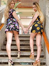 minirock, Naked Girls Pics of Nicole and Veronica Gorgeous Tourists