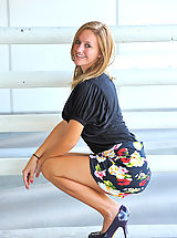 Wearing High Heels, Summer gives upskirt glimpses