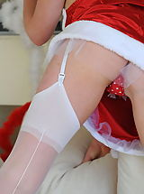 stocking, StMackenzies on December10 Santa Clause and Miss Millicent
