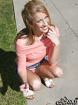 red upskirts, Desire Moore