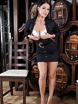 Naughty Secretary, Photo Set No. 1361 Lexa divulges her sweet bust and shows her own attractive muschi